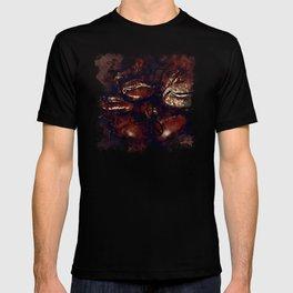 big coffee beans splatter watercolor T-shirt