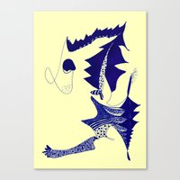 punk Canvas Prints featuring punk by Marie Elke Gebhardt