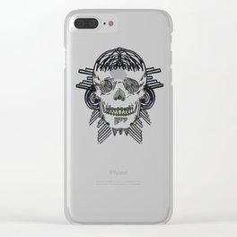 VA-RI-NATION SKULL Clear iPhone Case