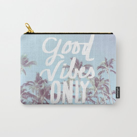 Good Vibes Only (palm trees) Carry-All Pouch