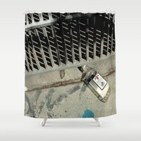 code Shower Curtains featuring Bar Code by oneofacard