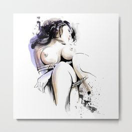 Shibari - Japanese BDSM Art Painting #13 Metal Print
