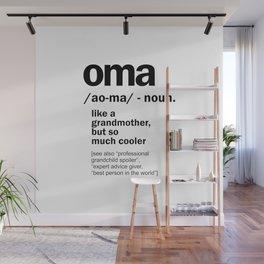Oma Gift For Grandma Women Birthday Mother Day Gift Wall Mural