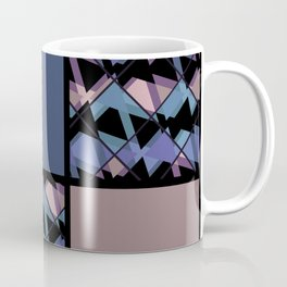 Blue brown patchwork Coffee Mug