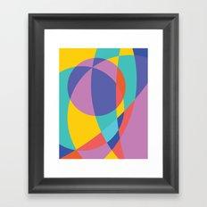 Geometric Beach Ball 2 Framed Art Print