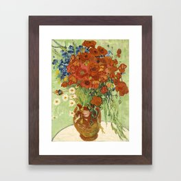 "Vincent van Gogh ""Still Life, Vase with Daisies, and Poppies"" Framed Art Print"