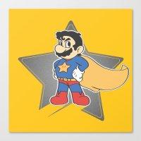 super mario Canvas Prints featuring Super Mario by tshirtsz