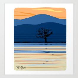 Lonely Oak Art Print
