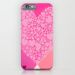 Pink and Red Hearts iPhone Case