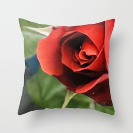 A Single, Solitary Elegant Red Rose Throw Pillow