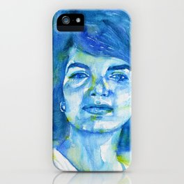 JACQUELINE KENNEDY ONASSIS watercolor portrait.1 iPhone Case