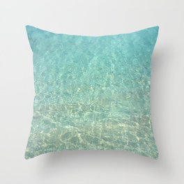 Colors of the Sea Water - Clear Turquoise Throw Pillow