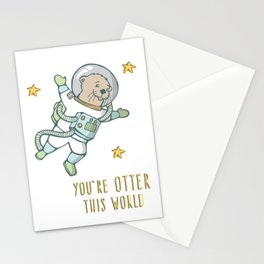 """Otter, """"You're Otter this World"""" Stationery Cards"""