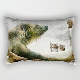 Bear, Squirrel and Kitten Rectangular Pillow