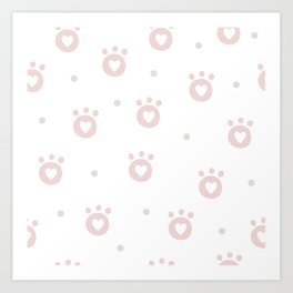 Baby Puppy Paws - Baby Pattern Art Print