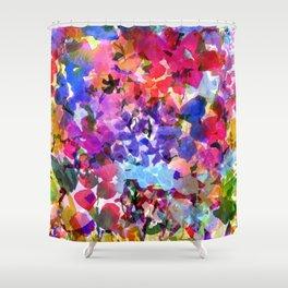 Jelly Bean Wildflowers Shower Curtain