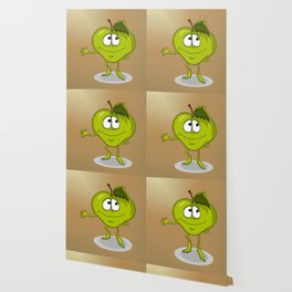 Happy apple Wallpaper