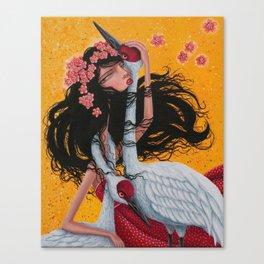 The Crane Wife Canvas Print
