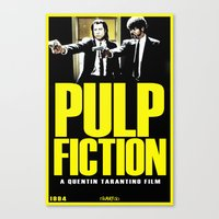 pulp fiction Canvas Prints featuring PULP FICTION by Rikartdo