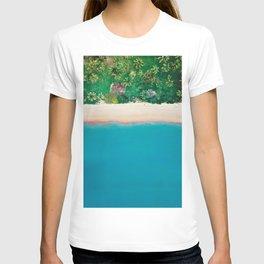 Tropical Beach Vibes | Aerial Photography  T-shirt