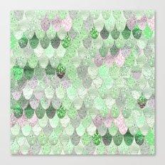 MERMAID SCALES GREENERY - SUMMER MERMAID Canvas Print