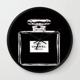 C Perfume Bottle Wall Clock