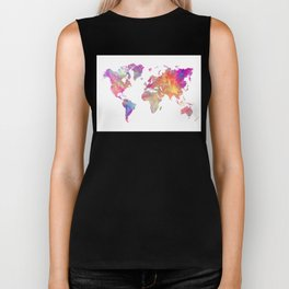 Map of the world #map #world Biker Tank