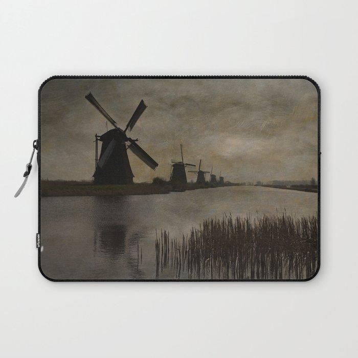 Windmills at Kinderdijk Holland Laptop Sleeve