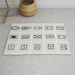 icons electrical symbols Rug