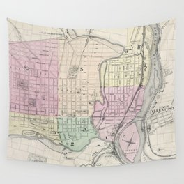 Vintage Map of Allentown Pennsylvania (1872) Wall Tapestry