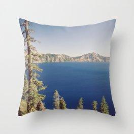 Beautiful Blue Crater Lake Throw Pillow