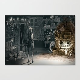 Hansel and Gretel and the Witch Canvas Print