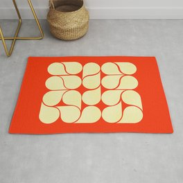 Mid-century abstract with red-no9 Rug