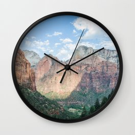 Zion National Park - Utah Natural Landscape, Sunset Photography Wall Clock