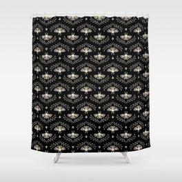 Spooky Moths Shower Curtain