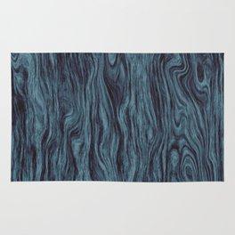 Blue Wood Grain Rug