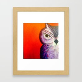 One Eye Owl Framed Art Print