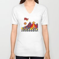 rio V-neck T-shirts featuring Rio New by Monica Fuchshuber