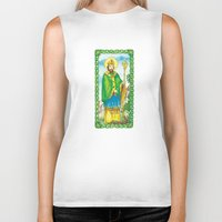patrick Biker Tanks featuring Saint Patrick by TheCore