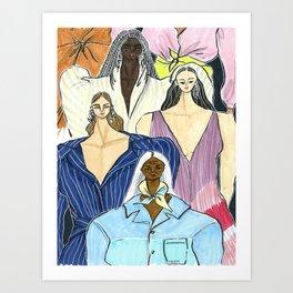 Diversity is the New Chic – Original Fashion art, Fashion Illustration, Fashion wall art Art Print