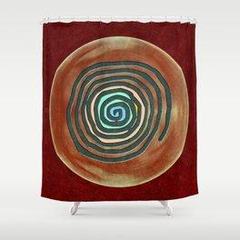 Tribal Maps - Magical Mazes #02 Shower Curtain