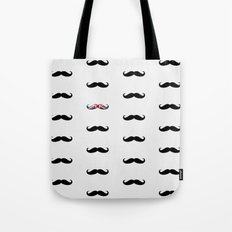 Union Jack Mustache Tote Bag