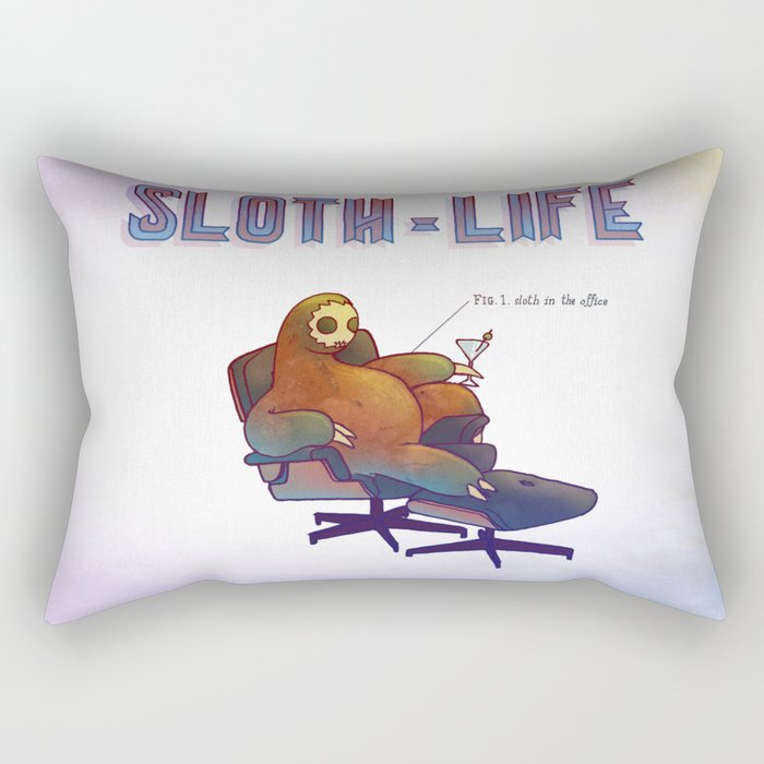 SLOTH LIFE fig. 1. Rectangular Pillow
