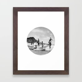 Tandem Surfing Framed Art Print