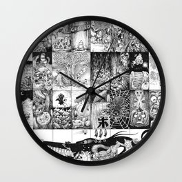Inktober 2016 Wall Clock