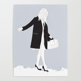 Winter Fashion Girl in the Snow Poster