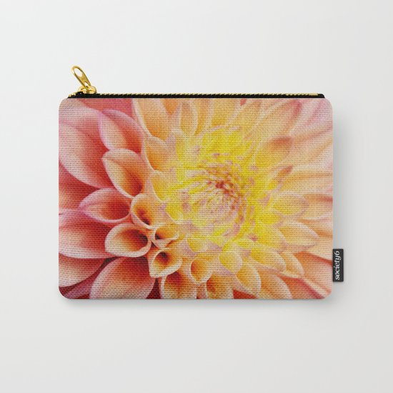 Light pink Dahlia #3 Carry-All Pouch