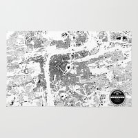 prague Area & Throw Rugs featuring PRAGUE by Maps Factory