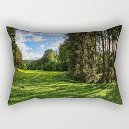 Augsburg 4k summer forest HDR beautiful nature Germany Europe Rectangular Pillow