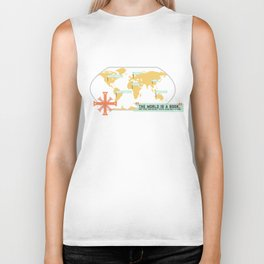 The World is a Book Biker Tank